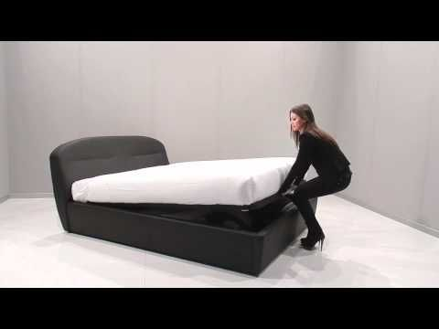 Letti Imbottiti   Funzionamento meccanismo Easy - Lift - YouTube