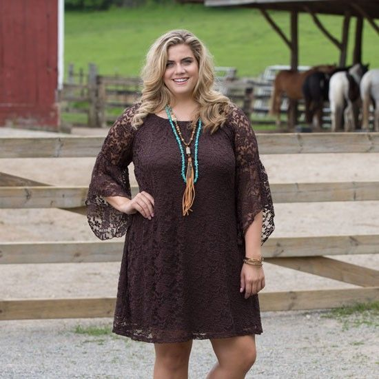 Chocolate Cowgirl Social Plus Dress in 2019 | Plus size ...