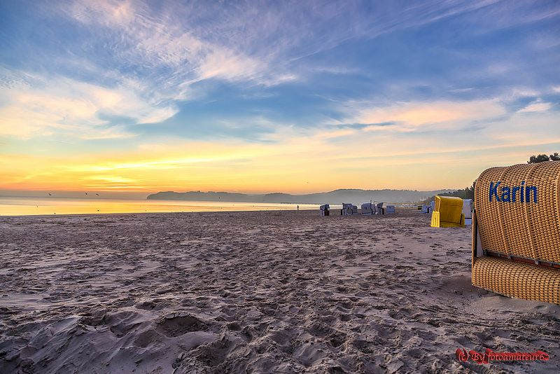 Strandkorb Sonnenaufgang sdatec.com