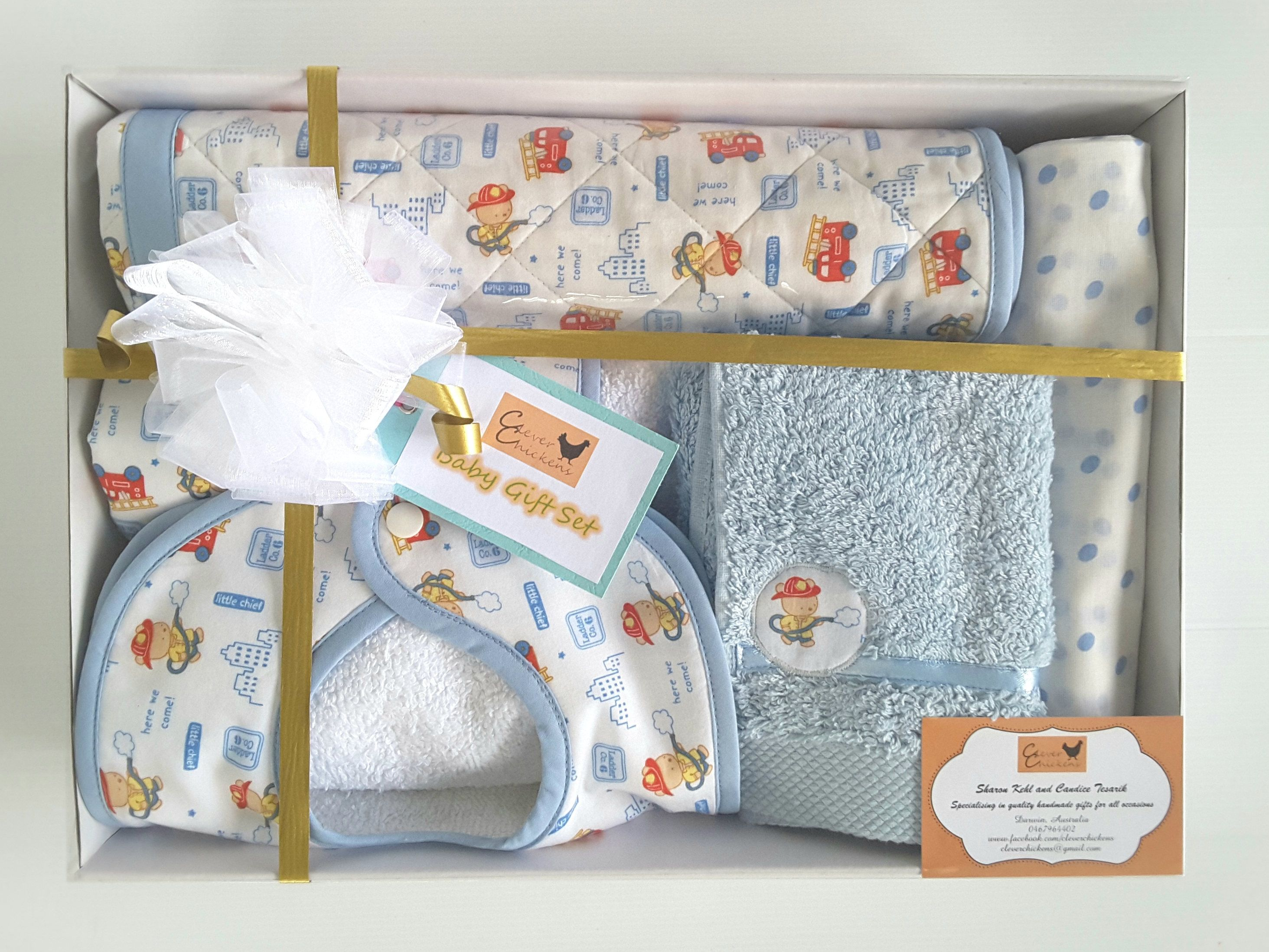 New Parent Gift, Fireman Baby Shower Gift, New Baby Hamper, Baby Boy ...