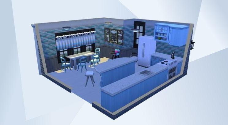 Blue Kitchen - #catsanddogs #parenthood #blue #kitchen ...