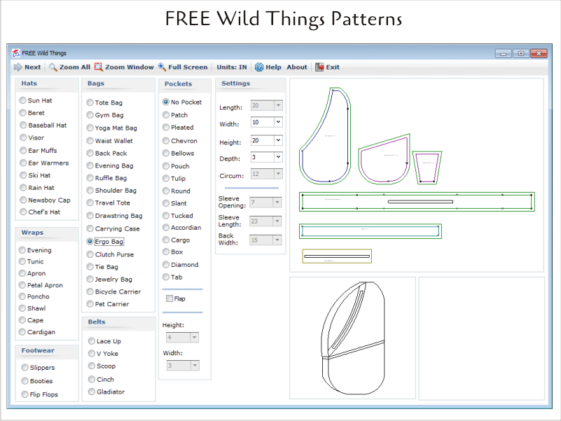 Wild Things Free Pattern Design Software Bag Patches Pattern