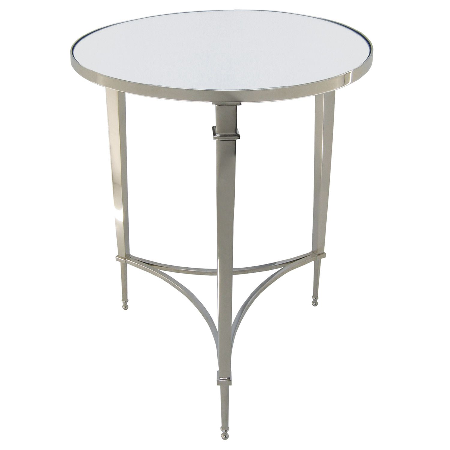 Global views round french square leg table nickle home pinterest