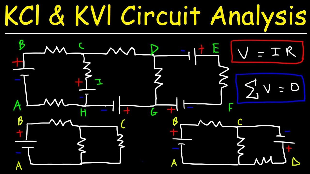 Kirchhoffs Law Junction Loop Rule Ohms Kcl Kvl Circuit Dc Examples Ana
