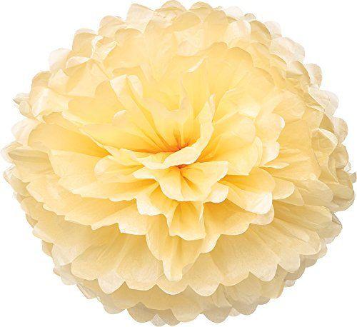White 10 Pack 10 Inch Tissue Paper Flower Ball Pom-poms for Party//Wedding//Home Kubert New Design DIY Tissue Paper Pom-poms Flower Ball Hanging Decoration pom poms