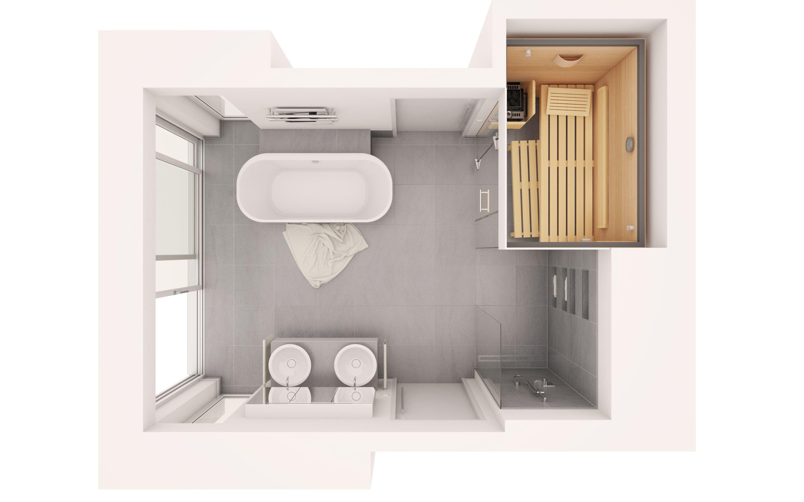 badezimmer sauna klein Bathroom floor plans, Sauna