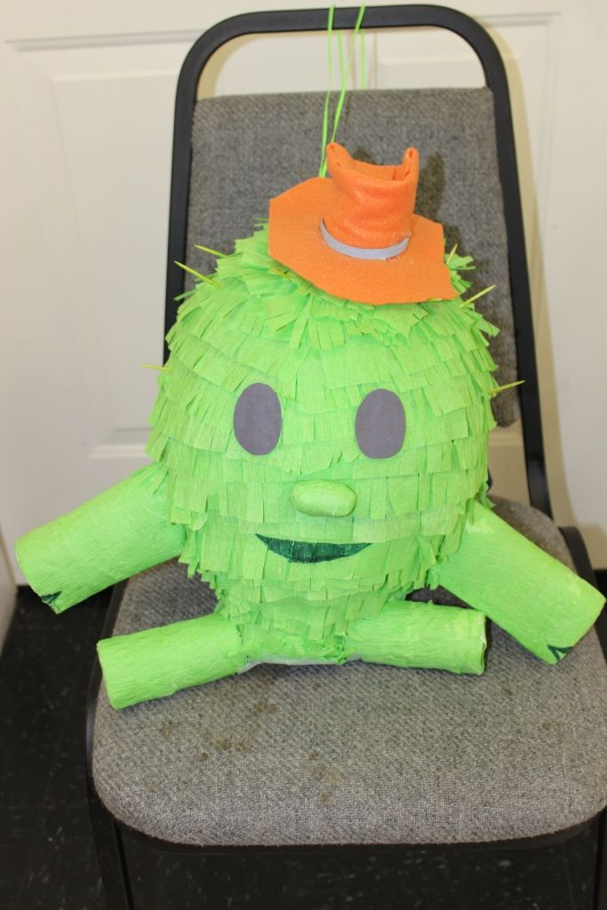 Homemade Toby pinata for Sheriff Callie party