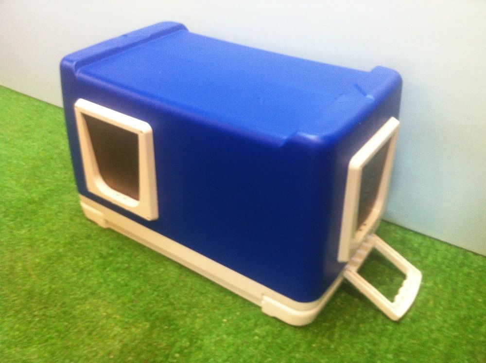 Cat House Made From A Cooler : Igloo cooler converted into outdoor cat shelter new