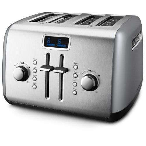Kitchenaid Kmt422cu 4 Slice Digital Toaster Contour Silver Kitchenaid Http Www Amazon Ca Dp B003tt0v0s Kitchenaid Toaster Kitchen Aid Countertop Appliances
