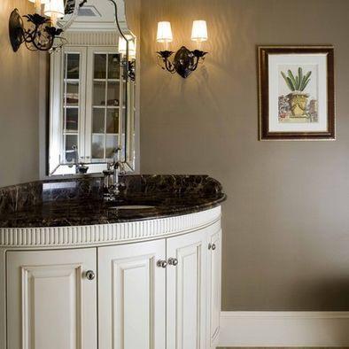 Raccoon Hollow Benjamin Moore Paint Taupe Gray Bathroom