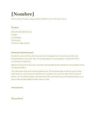 Carta De Presentación Para Cv Verde