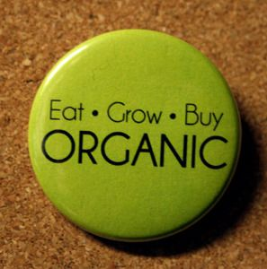 Share your greenness with the world, attach one of these pins to your reusable grocery bag or your shirt!