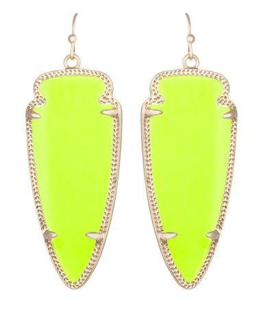 Skylar Earrings In Neon Yellow Kendra Scott Jewelry