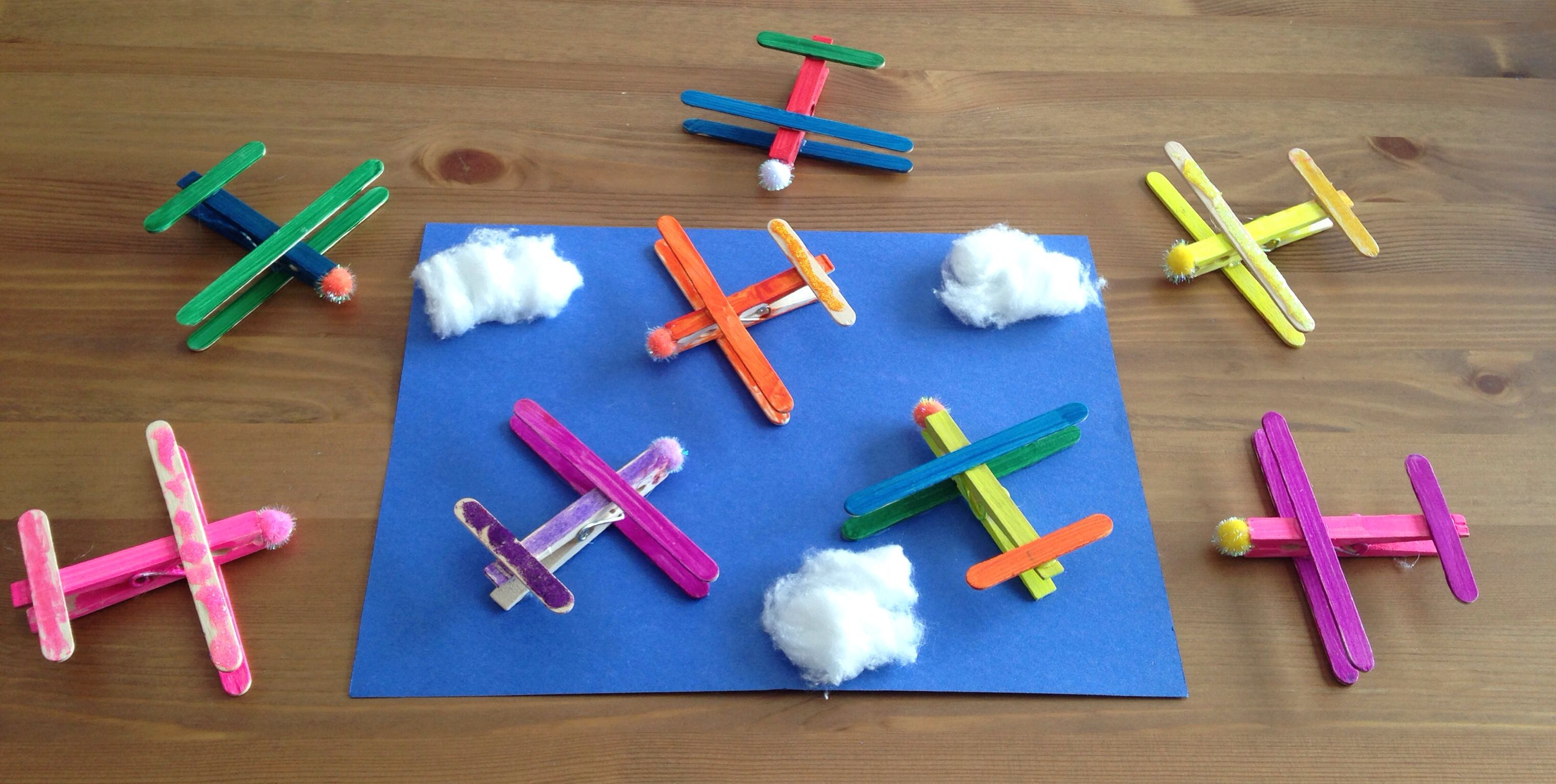 Clothespin Plane Craft