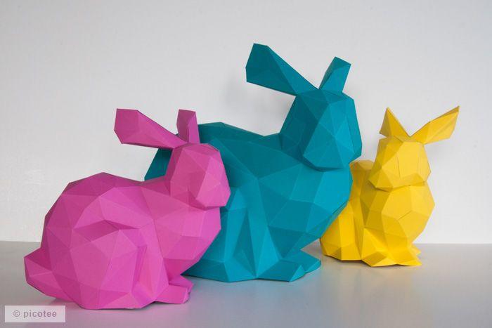Paper Shape diy osterhase aus papier paper folding diy paper and origami
