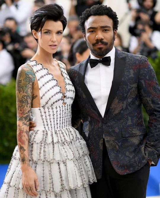 Ruby Rose & Donald Glover at Met Gala. May 1st, 2017.