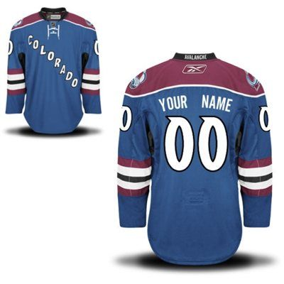 535b09d4692 Mens Colorado Avalanche Reebok Steel Blue EDGE Authentic Custom Alternate  Jersey