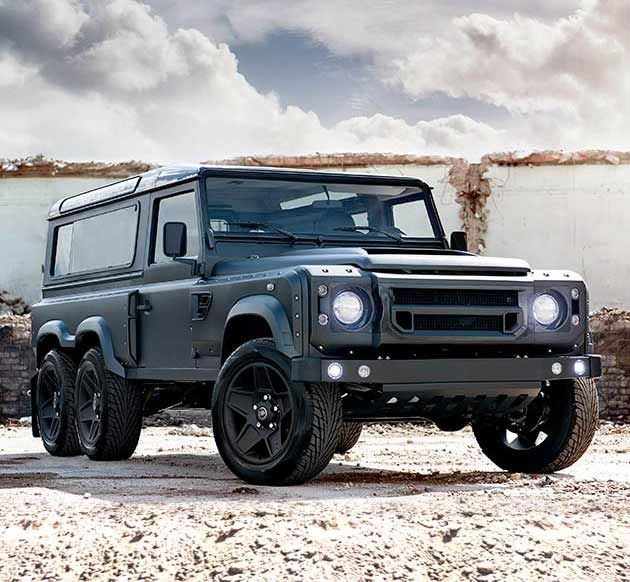 Based on the Land Rover Defender 110, this badass off-roader was one of the most exciting rides at the Geneva Motor Show, in part because this is the last year Land Rover will be producing this iconic legend (sniff sniff), but mostly just because it's awesome.