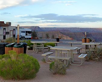 Our Picnic Tables at the Grand Canyon Skywalk!
