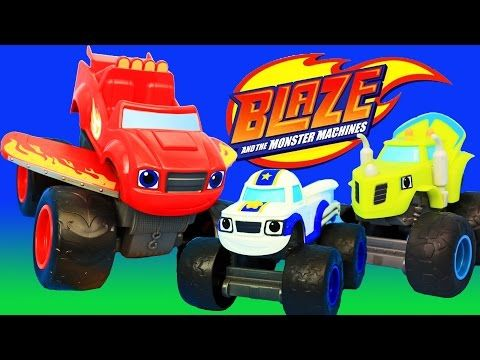 Blaze And The Monster Machines Dragon Island Race Gameplay