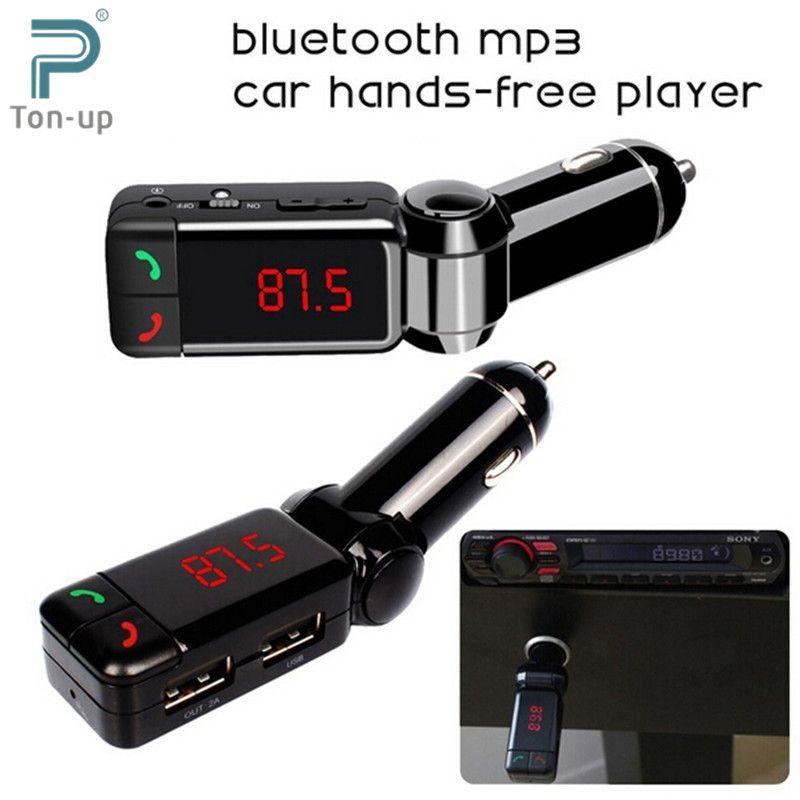 Car MP3 Audio Player Bluetooth FM Transmitter Wireless FM Modulator ...