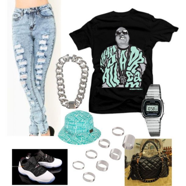 Jeans Clothes Girls Dope Outfit Shirt Air Jordan Bag Ring
