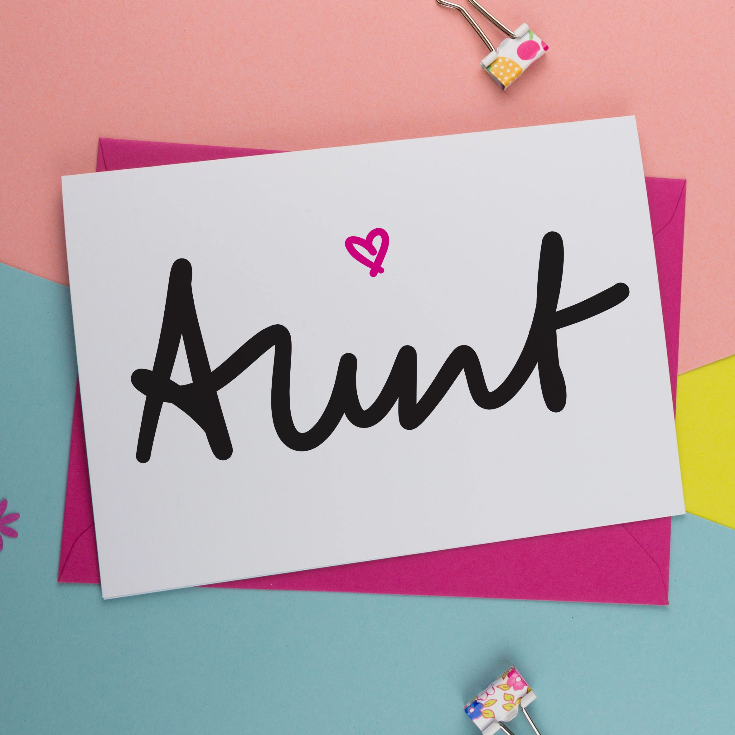 aunt birthday card  hand lettering cards birthday card