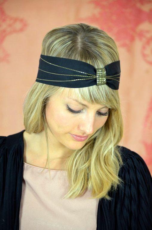 Headband Marcelle noir  Les Dormeuses de Madapolam
