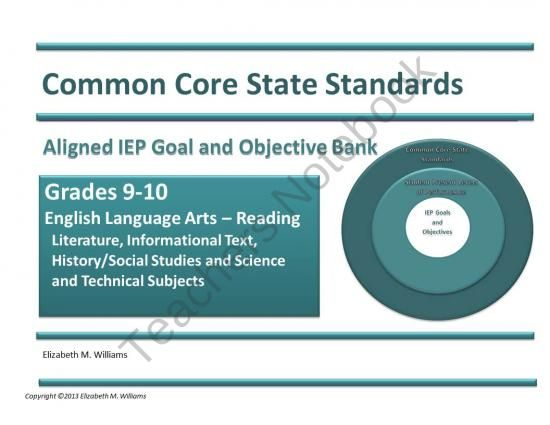 An IEP Goal And Objective Bank For High School Directly