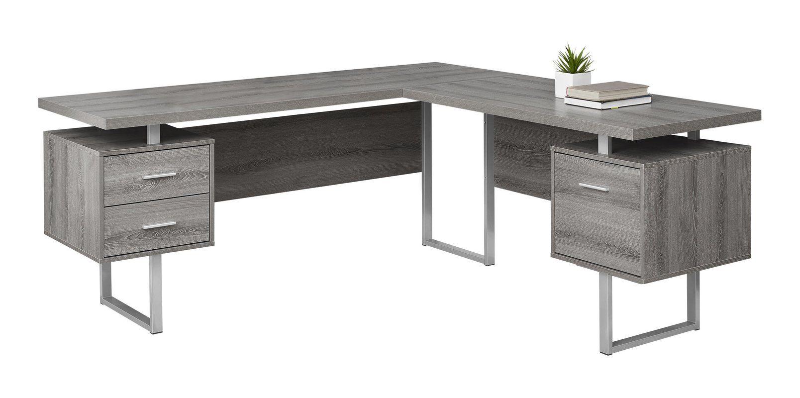 Sova 3 Drawer L Shape Executive Desk L Shaped Corner Desk Desk