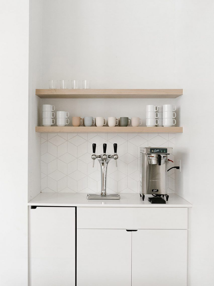 Work Co Office By Casework Commercial Office Design Collaborative Workspace Office Kitchenette