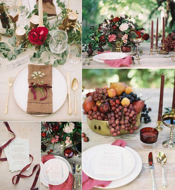 Hot Fall Wedding Colour Combinations 2014 Burgundy Orange And Purple