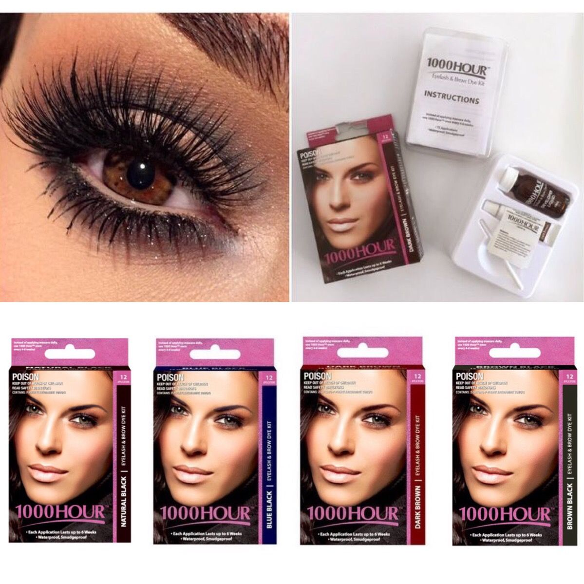 1000hour Lash Brow Tint Choose From 4 Different Colors Natural