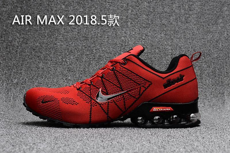 Air Max 2018 Flyknit Men Red Black in 2020 | Running shoes for men ...