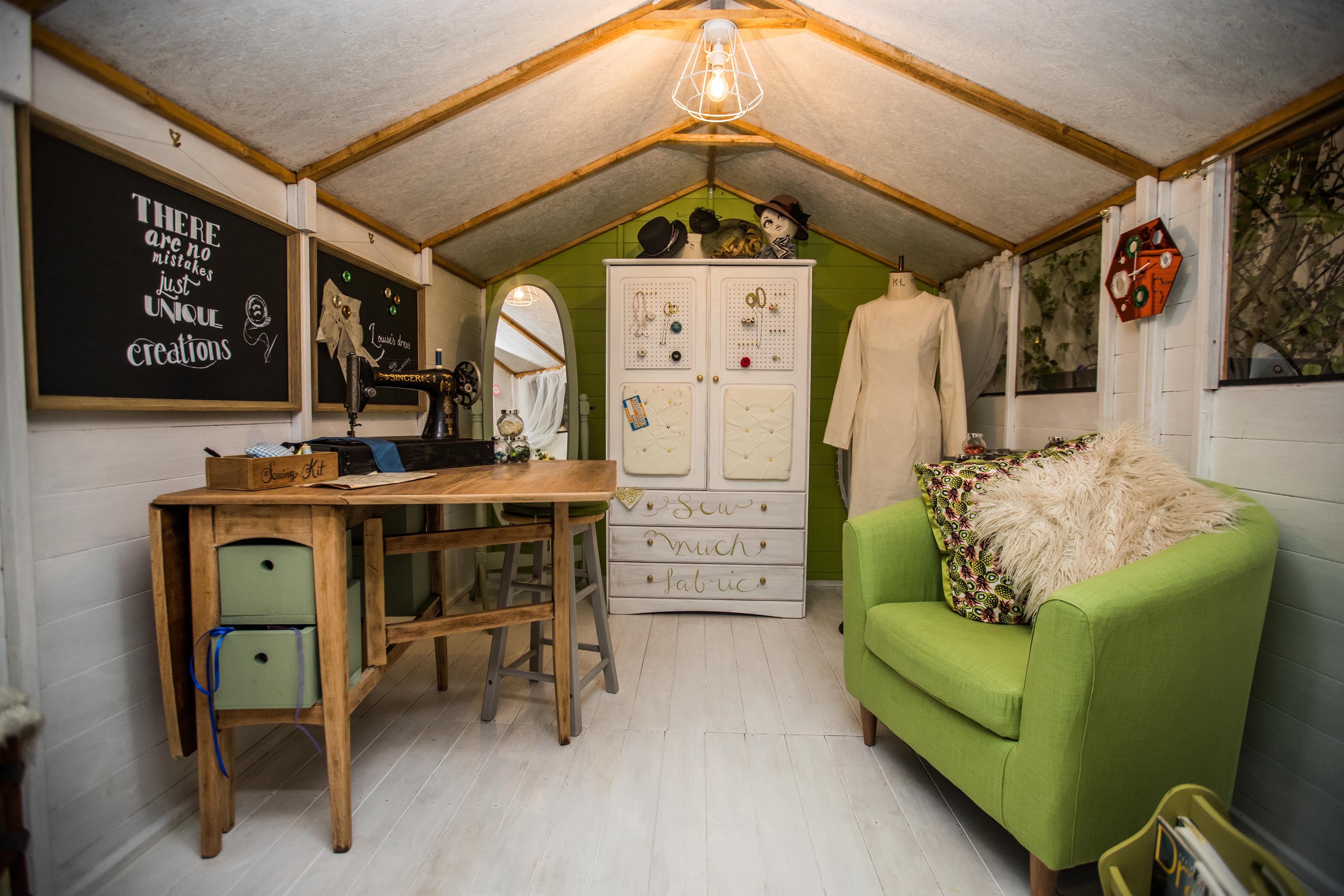 The Interior Design Of Sewing Shack Shed Part Grand Project Compeion At