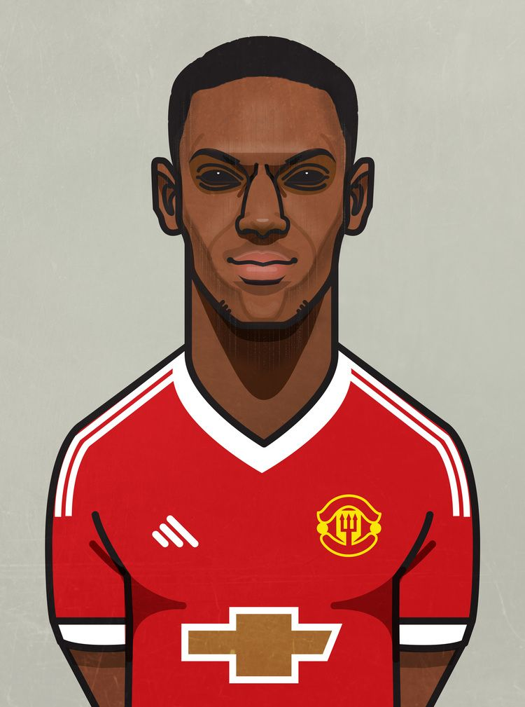 List of Latest Manchester United Wallpapers Cartoon Anthony Martial.