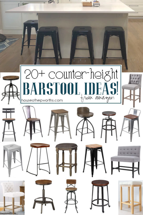 20 Amazing Farmhouse Counter Height Barstools House Of