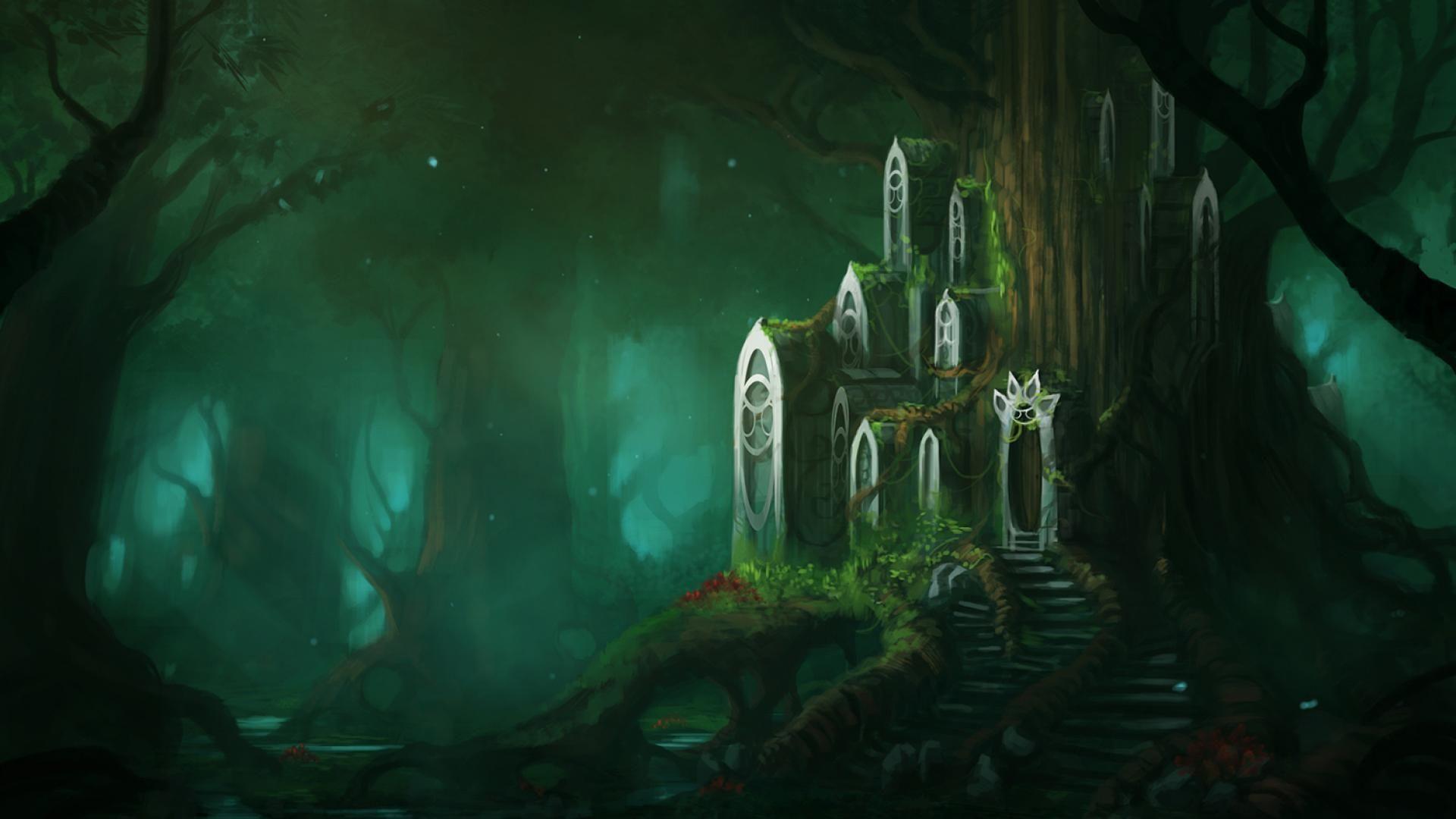 Fantasy Wallpaper Fantasy Forest Forest Wallpaper Fantastic Forest
