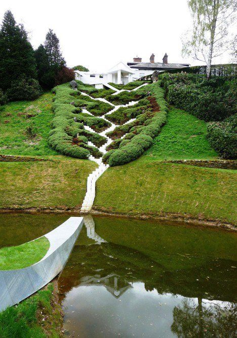 The Garden of Cosmic Speculation is a private garden in Scotland,