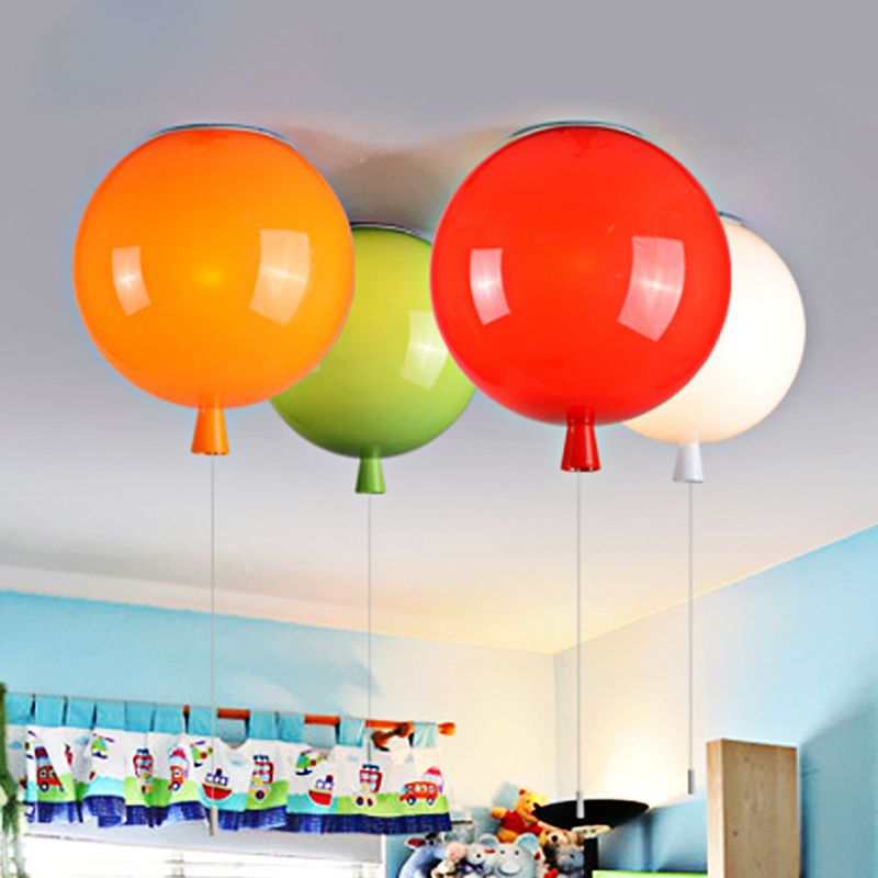 Ballon Lampen An Der Decke Mit Faden Zum An Und Abschalten Viele Farben Rot Grun Weiss Orange Kinder Balloon Ceiling Colorful Ceiling Lamp Ceiling Lights