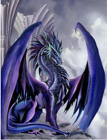 Regal Sapphire Dragon Repinned By All Creatures Gift Shop