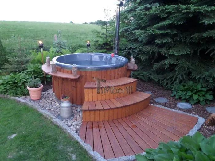 Badefass Gfk Thermoholz Mit Integriertem Ofen Wellness Royal Steffen Gutow Ot Schonwolde Deutschland Badefass Badezuber Badewanne Garten