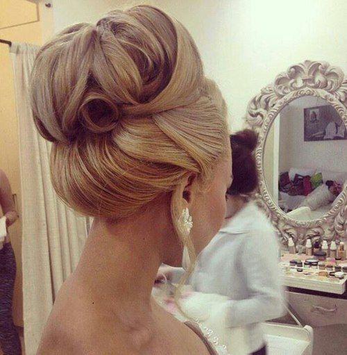 Xxl Dutt Brautfrisuren Saubere Klassische Knoten Frisur