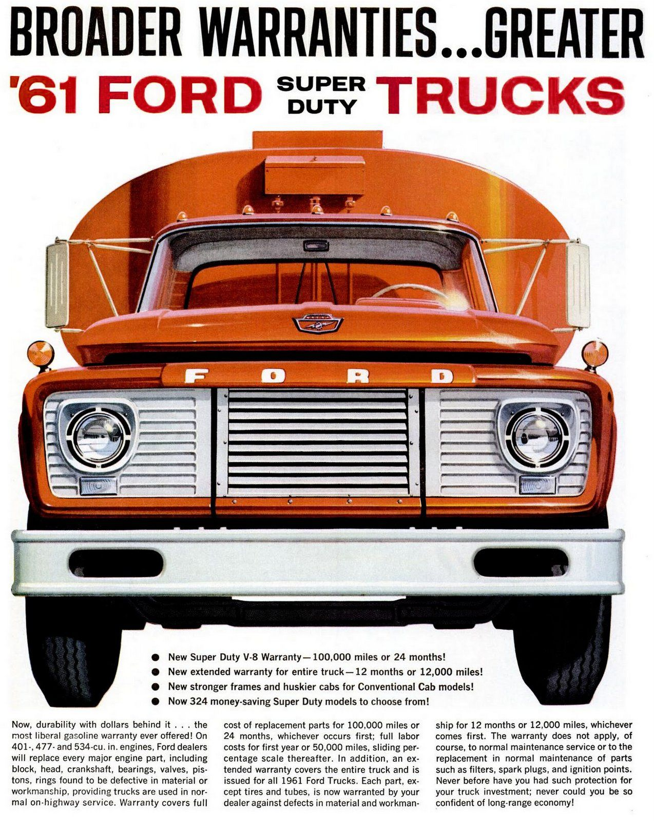 The Heavy Duty Ford Trucks From 1961 Ford Trucks Ford Super