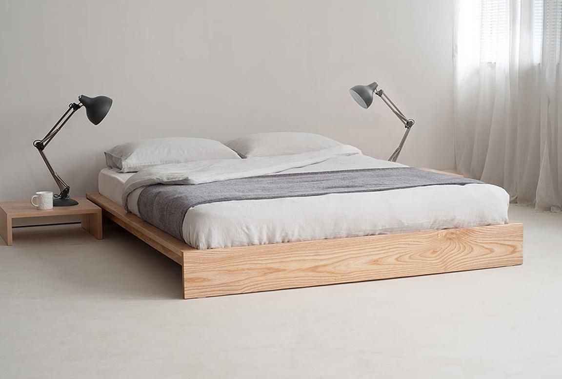 White Platform Bed Without Headboard Stylish Diy Bed Frame Ideas For Sleeping Comfortably Modern King
