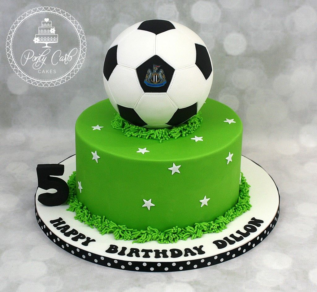 Football Birthday Cake With Images Soccer Birthday Cakes