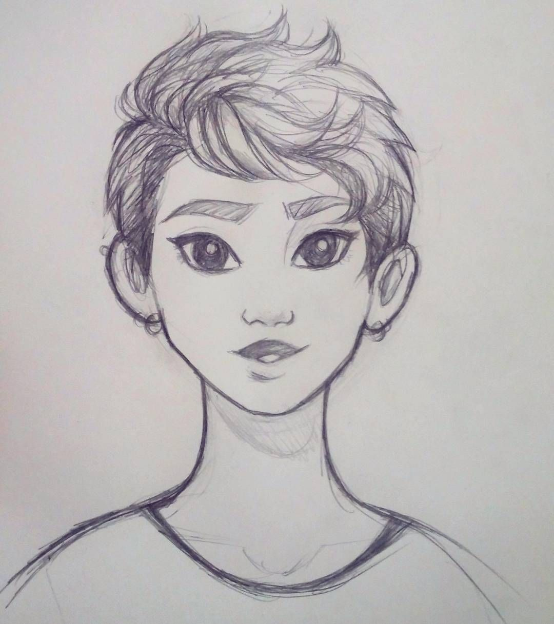 3 007 Otmetok Nravitsya 30 Kommentariev Art By Elliee V Instagram Quick Sketch Of A Girl With S Girl Drawing Sketches Drawings Character Design Sketches
