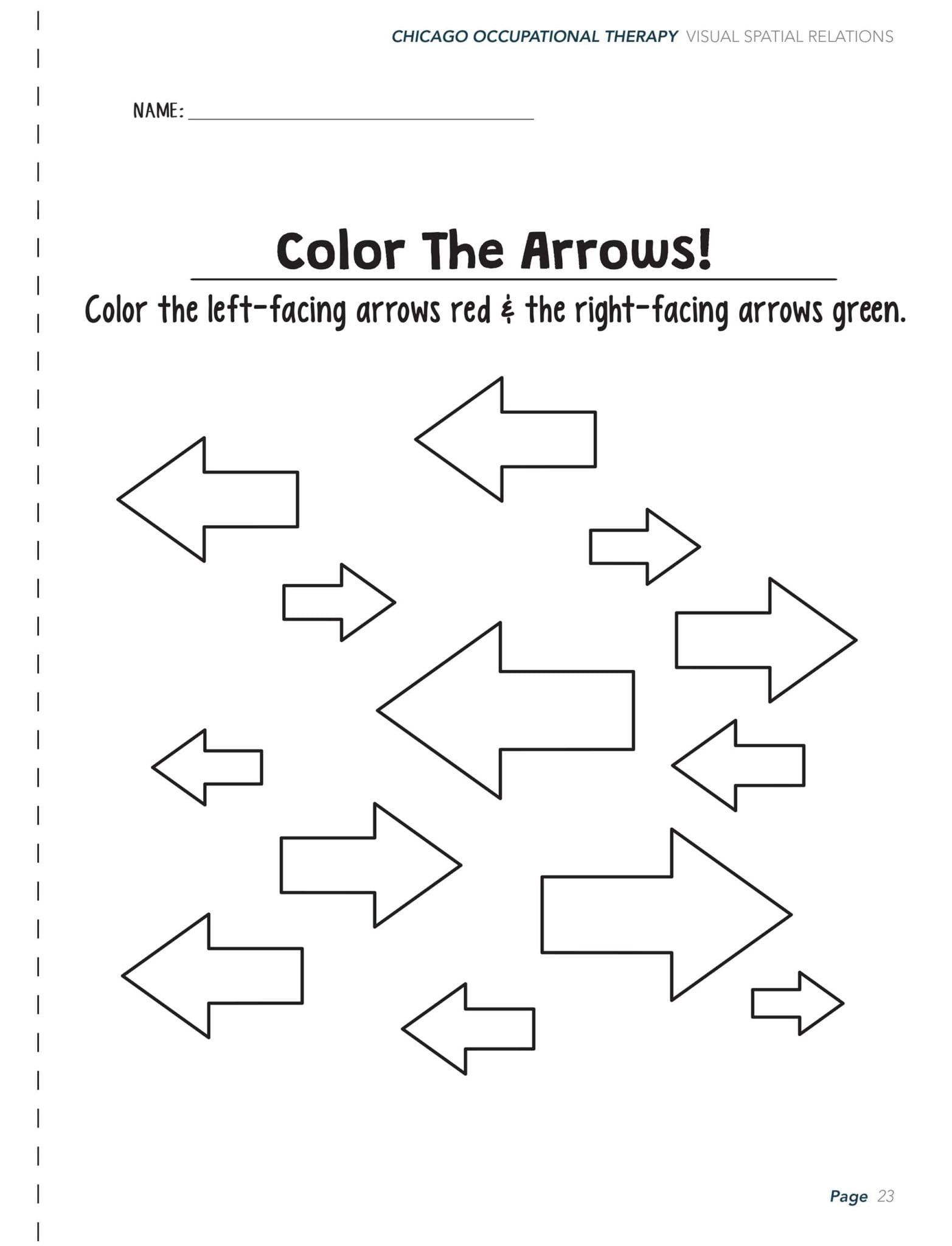 Visual Perceptual Activity Worksheets In With Images