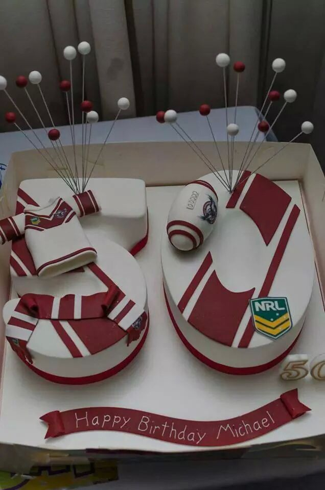 50th Birthday Manly Sea Eagles Cake Dads Cake Birthday