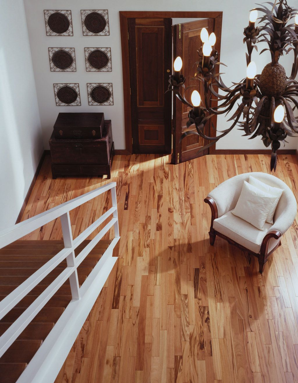 Tigerwood is an extremely durably and high quality exotic wood that would look amazing in any new room contact stonewood flooring for any questions and